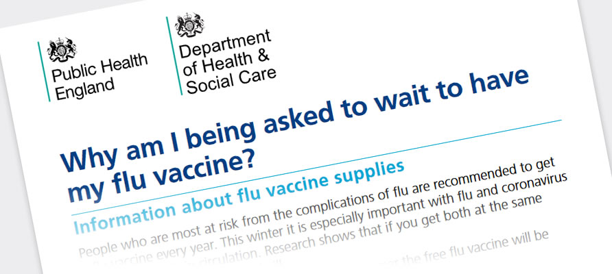Why am I being asked to wait to have my flu vaccine?